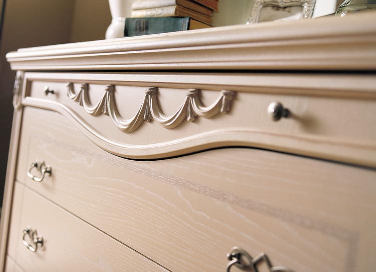 Doppelbett Esche Weiss Furnier Stilmöbel aus Italien Qualitätsmöbel ...