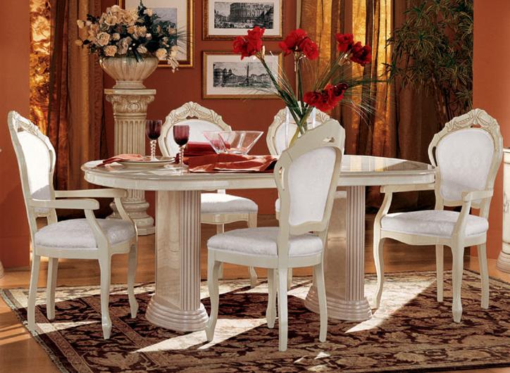 luxus esstisch oval klassische italienische stilm bel. Black Bedroom Furniture Sets. Home Design Ideas