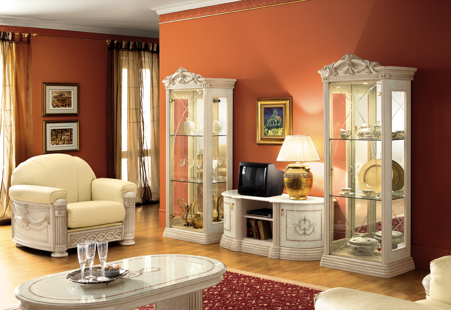 luxus esstisch oval klassische italienische stilm bel beige hochglanz. Black Bedroom Furniture Sets. Home Design Ideas