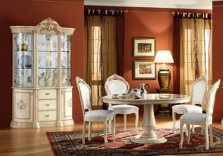 italienische vitrinen vitrine glasvitrine 3t rig beige italienische stilm bel