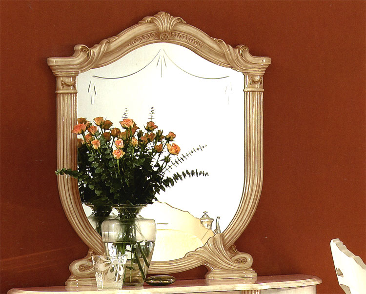 Exklusiver wandspiege l rossella beige glanz klassische italienische stilm bel ebay - Italienische designer wandspiegel ...