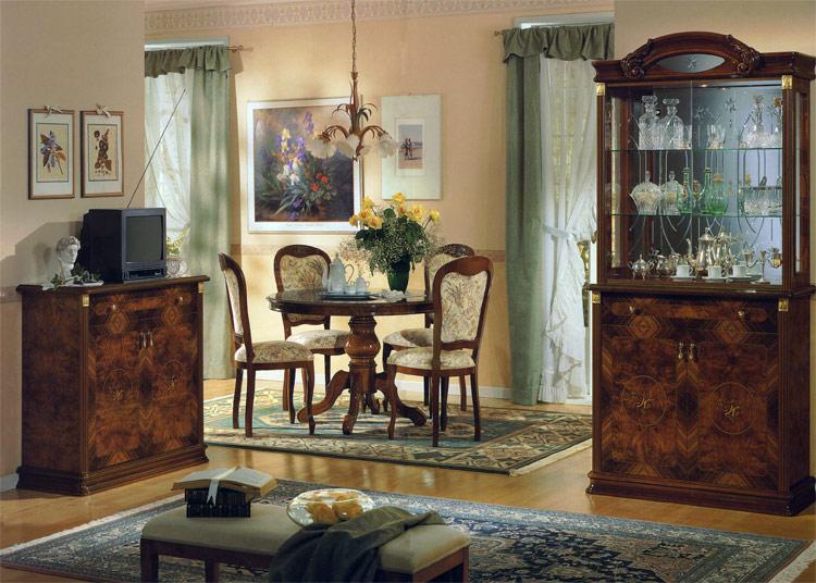 design m bel italien wohnzimmer esszimmer vitrine mahagoni hochglanz klassik ebay. Black Bedroom Furniture Sets. Home Design Ideas