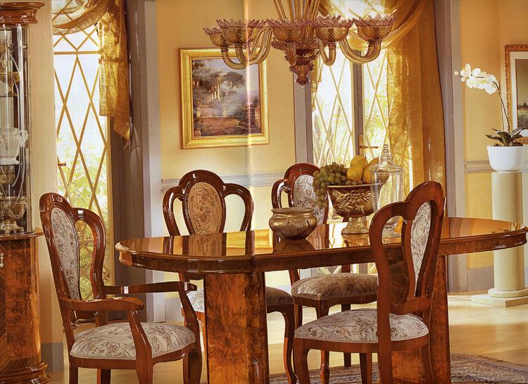 Esstisch oval ausziehbar hochglanz klassische italienische for Esstisch italienisches design