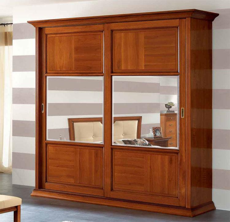 luxus kleiderschrank schiebet re spiegel furnier italienische klassische m bel ebay. Black Bedroom Furniture Sets. Home Design Ideas