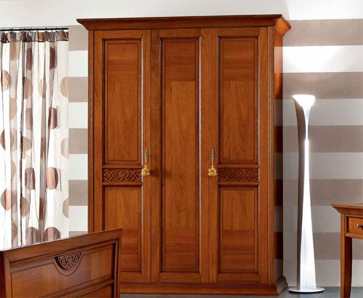 luxus kleiderschrank 3 t rig b180cm spiegel holz furnier klassische m bel italia ebay. Black Bedroom Furniture Sets. Home Design Ideas