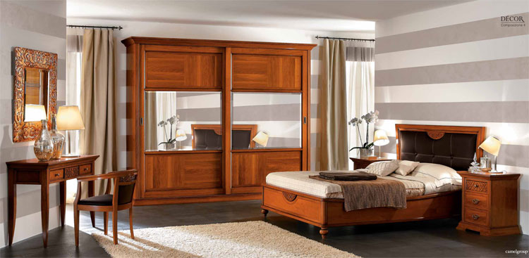 komplett schlafzimmer set holz furnier exklusive italienische stilm bel. Black Bedroom Furniture Sets. Home Design Ideas