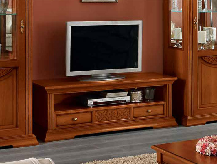 luxus tv plasma unterschrank nussbaum furnier klassische italienische stilm bel ebay. Black Bedroom Furniture Sets. Home Design Ideas