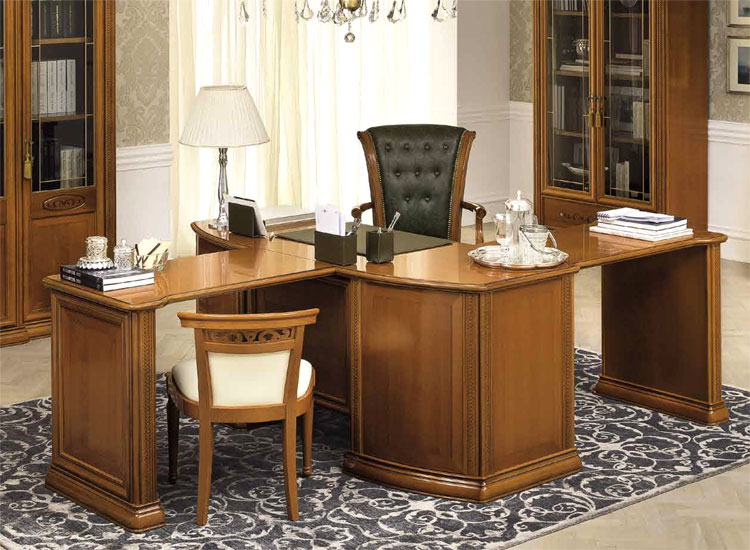 luxus schreibtisch b ro office m bel set siena klassische stilm bel italien ebay. Black Bedroom Furniture Sets. Home Design Ideas