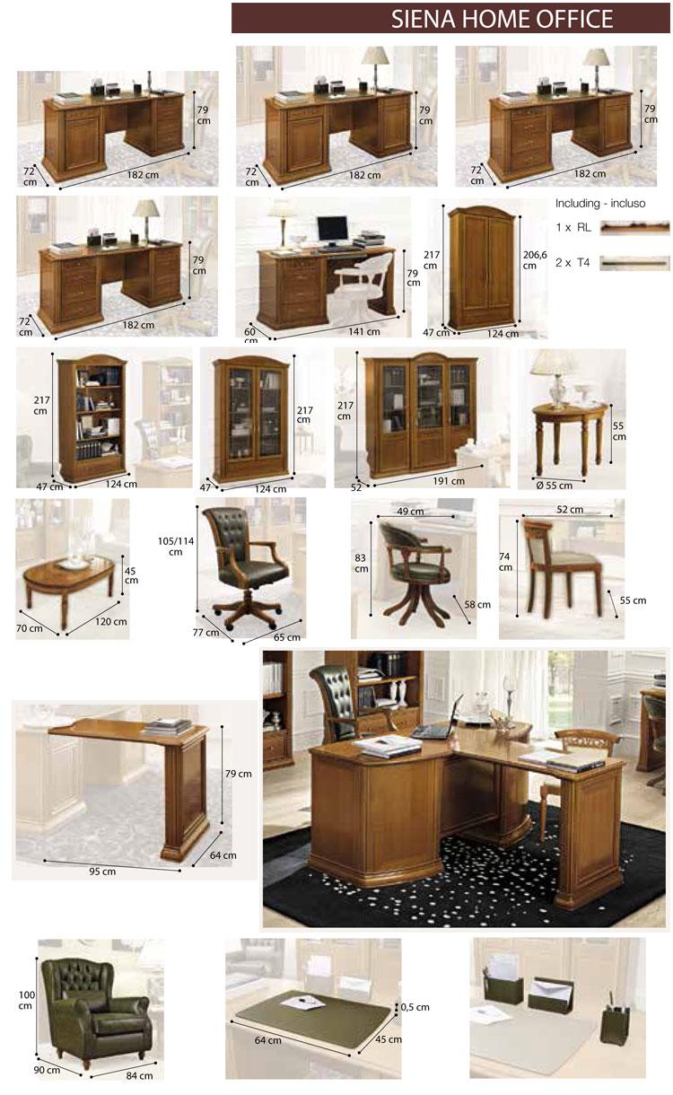 Luxus komplett b ro office m bel set siena klassische - Buro komplett set ...