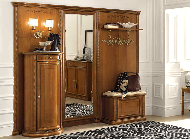 luxus entrance flur diele vorraum m bel kirsch siena klassische stilm bel italia ebay. Black Bedroom Furniture Sets. Home Design Ideas