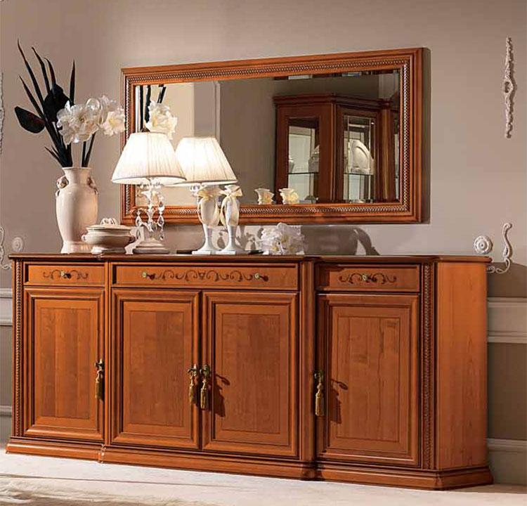 luxus anrichte buffet siena kirschbaum furnier klassische m bel aus italien ebay. Black Bedroom Furniture Sets. Home Design Ideas
