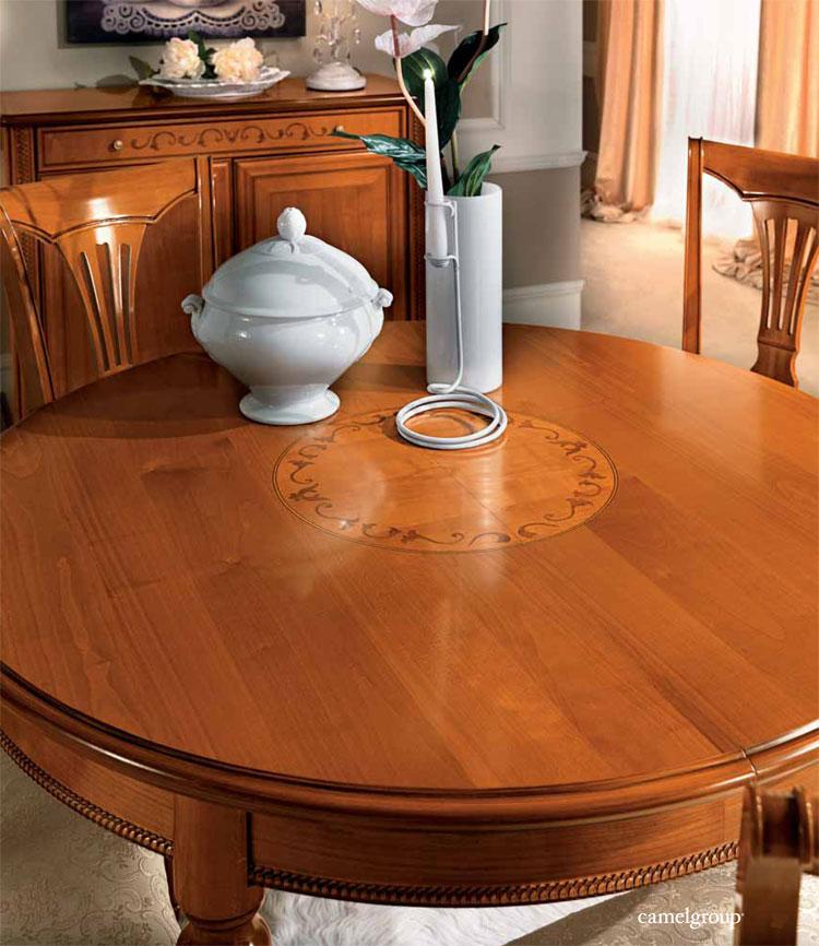Exlusiver esstisch rund kirschbaum massiv furnier for Esstisch rund designklassiker