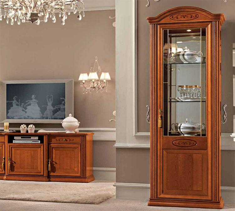 exlusives wohnzimmer wohnwand kirschbaum furnier klassische stilm bel italien ebay. Black Bedroom Furniture Sets. Home Design Ideas