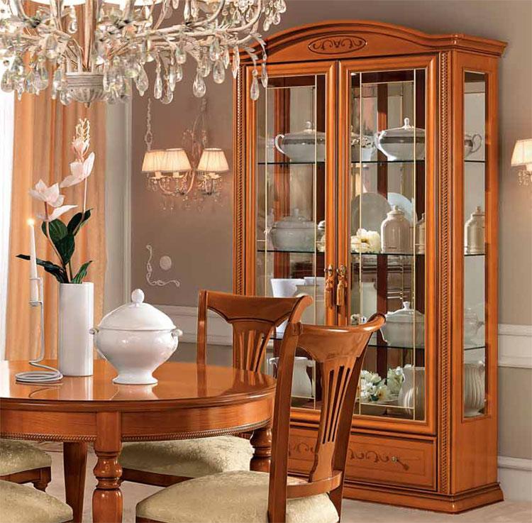 Exlusive luxus vitrine 2 t rig kirschbaum furnier for Kirschbaum vitrine