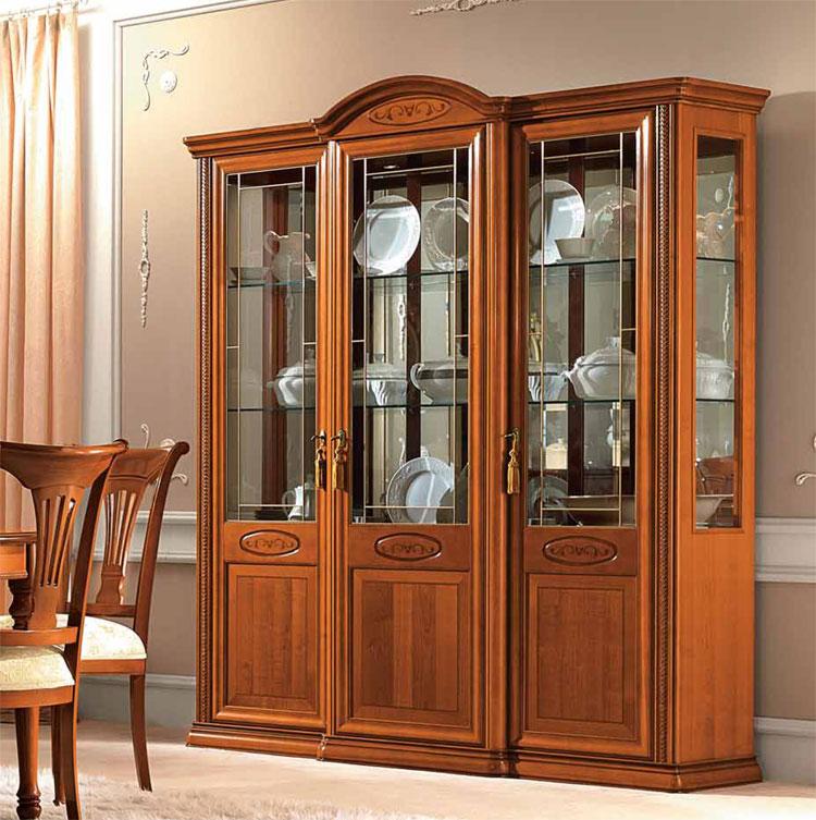 Exlusive vitrine 3 t rig inlays kirschbaum furnier for Kirschbaum vitrine