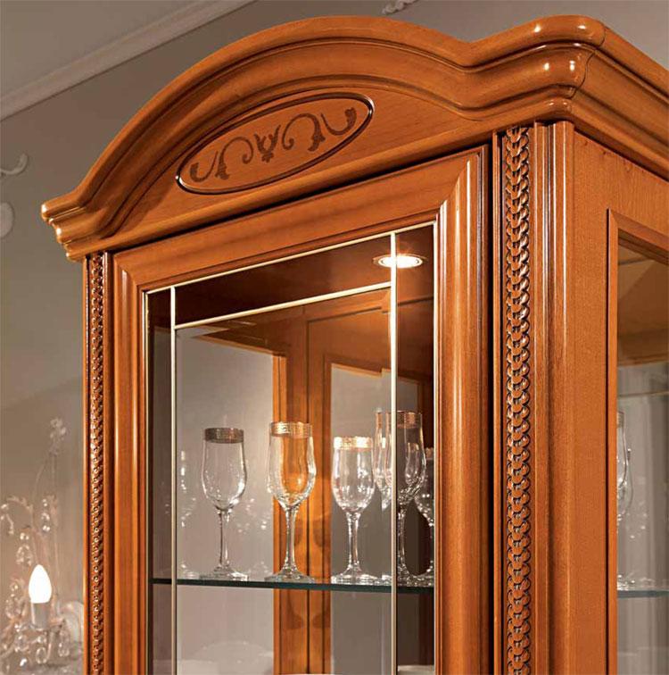 Exlusive vitrine 1 t rig inlays kirschbaum furnier for Kirschbaum vitrine
