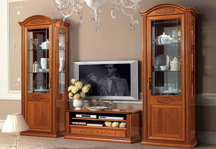 Exlusives wohnzimmer wohnwand kirschbaum furnier klassische stilm bel italien ebay - Stilmobel italien ...