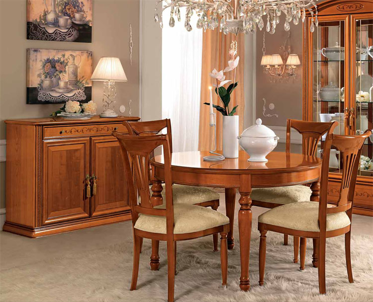 exlusives wohnzimmer esszimmer kirschbaum furnier klassische stilm bel italien ebay. Black Bedroom Furniture Sets. Home Design Ideas