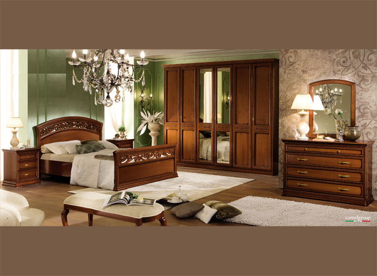 luxus komplett schlafzimmer set torriani nussbaum klassische stilm bel italien ebay. Black Bedroom Furniture Sets. Home Design Ideas