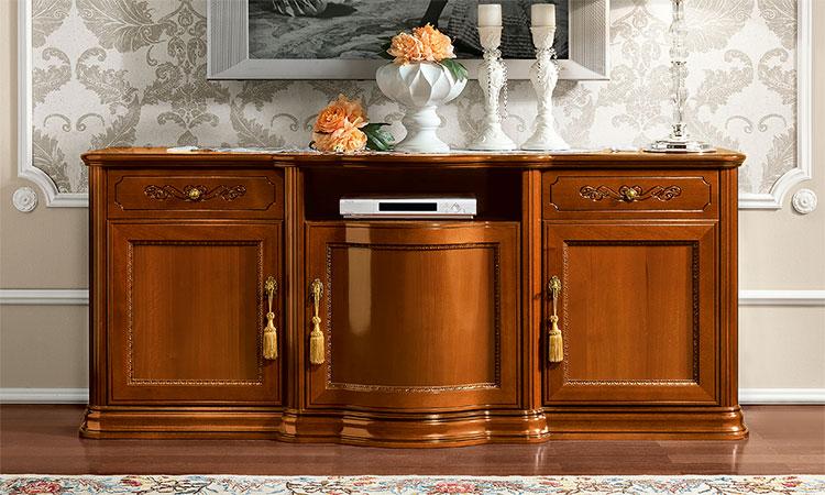 luxus tv unterschrank torriani day farbe nussbaum. Black Bedroom Furniture Sets. Home Design Ideas