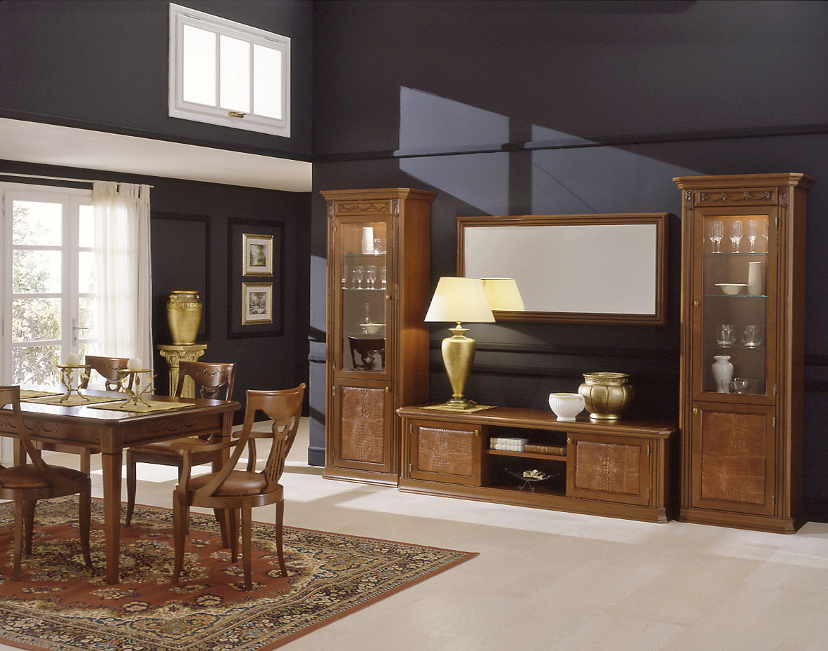 exklusive m bel italien wohnzimmer set esszimmer vitrine klassik luxus ebay. Black Bedroom Furniture Sets. Home Design Ideas