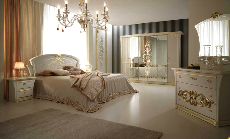 luxus schlafzimmer set klassische stilm bel italia glamour. Black Bedroom Furniture Sets. Home Design Ideas