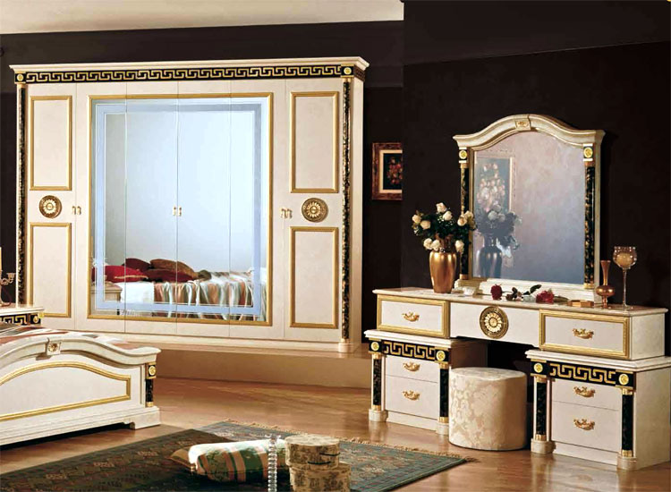exklusiver kleiderschrank 6tr schrank italienische. Black Bedroom Furniture Sets. Home Design Ideas
