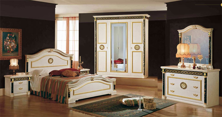 komplett schlafzimmer set royale klassische italienische stilm bel hochglanz ebay. Black Bedroom Furniture Sets. Home Design Ideas