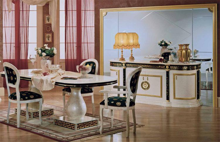 luxus wohnzimmer tische:Design Luxus Wohnzimmer Esszimmer Griechische Gold Dekor Hochglanz  ~ luxus wohnzimmer tische