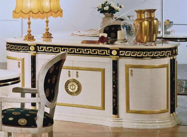 Sideboard Spiegelwand Barock Luxus Klassik Hochglanz Antik ...