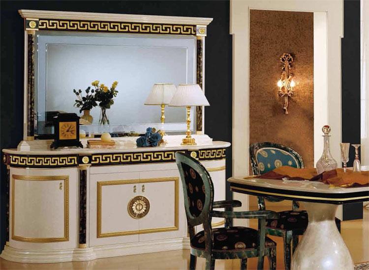 Sideboard spiegel luxus klassik hochglanz griechischer - Italienische designer wandspiegel ...