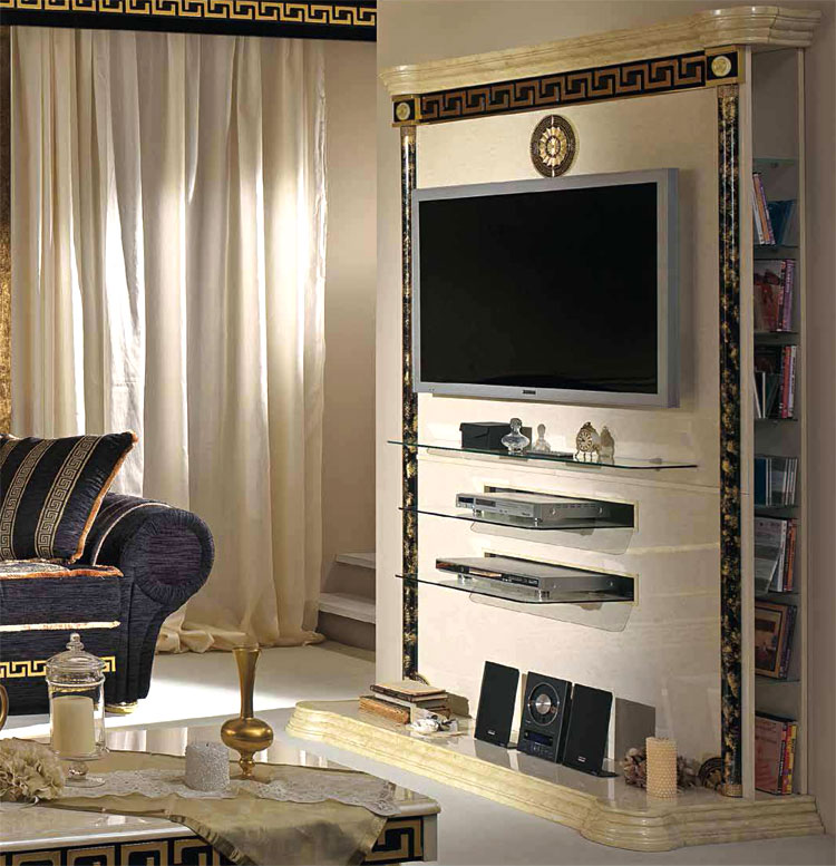 exklusiver lcd tv schrank plasma klassische italienische. Black Bedroom Furniture Sets. Home Design Ideas