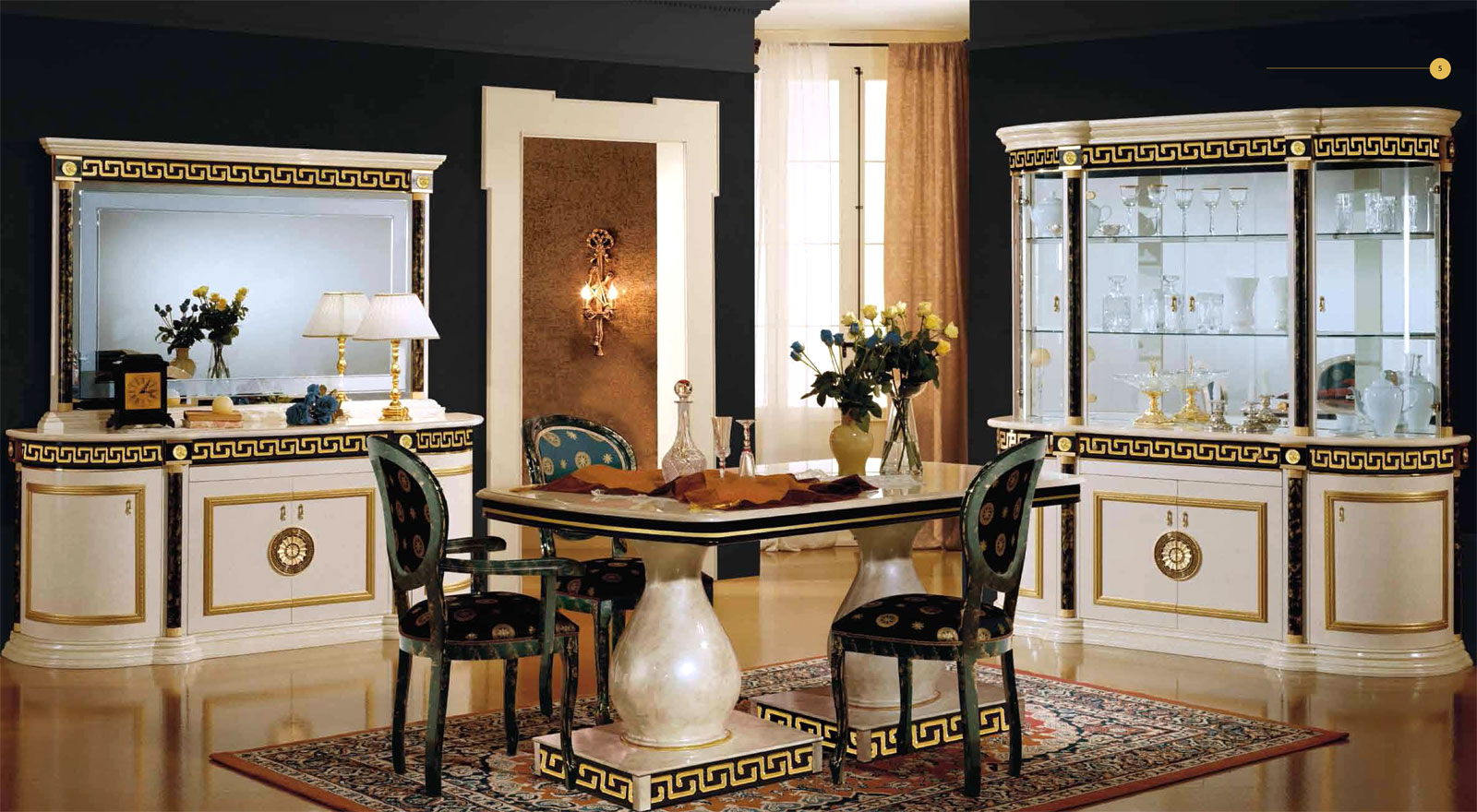 design luxus wohnzimmer esszimmer beige italienische designer m bel ebay. Black Bedroom Furniture Sets. Home Design Ideas