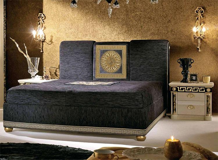 luxus dopellbett bett futonbett royale inkl tagesdecke exklusive m bel italien ebay. Black Bedroom Furniture Sets. Home Design Ideas