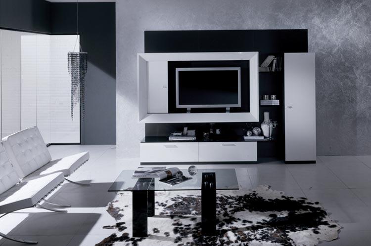 Anbauwand vitrine tv element modern italien modern - Anbauwand modern ...