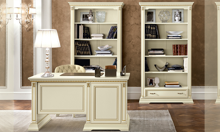 luxus b ro b cherschrank treviso elfenbein designm bel. Black Bedroom Furniture Sets. Home Design Ideas