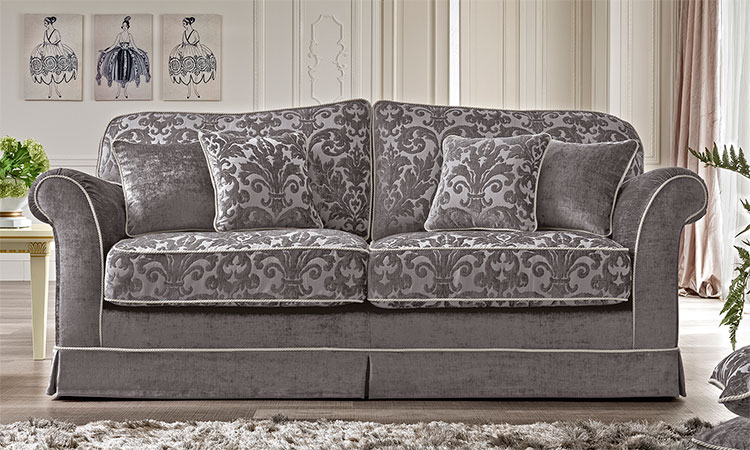 luxus sofa sessel 3 2 1 sitzer polster stoff klassische. Black Bedroom Furniture Sets. Home Design Ideas