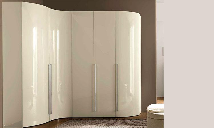luxus eckkleiderschrank 228h farbe elfenbein aus italien. Black Bedroom Furniture Sets. Home Design Ideas