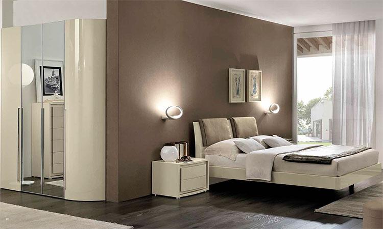 bettgruppe bett nachtkonsole vela elfenbein hochglanz. Black Bedroom Furniture Sets. Home Design Ideas