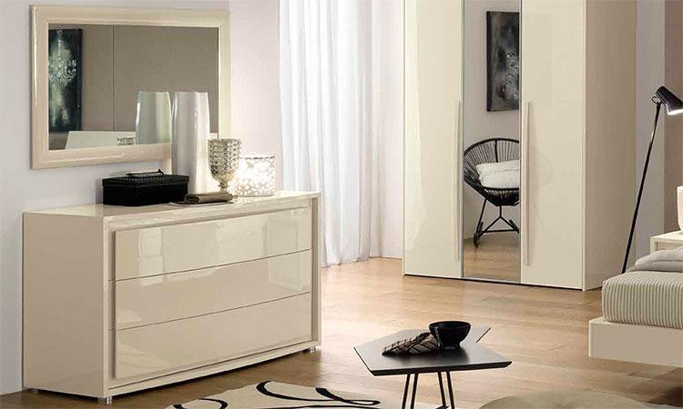 Luxus schlafzimmer vela elfenbein hochglanz elegant modern - Hochglanz schlafzimmer italien ...