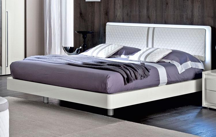 modernes elegantes bett doppelbett futon wei 160x200 italienische stilmoebel ebay. Black Bedroom Furniture Sets. Home Design Ideas