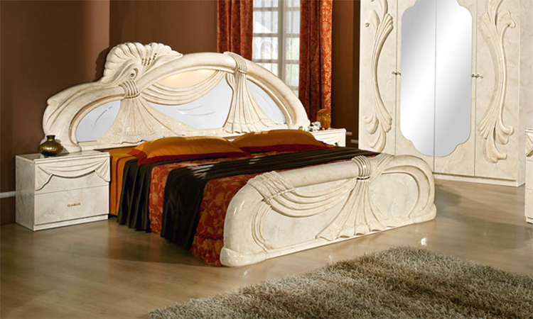 komplett schlafzimmer set klassische italienische stilm bel creme hochglanz top. Black Bedroom Furniture Sets. Home Design Ideas