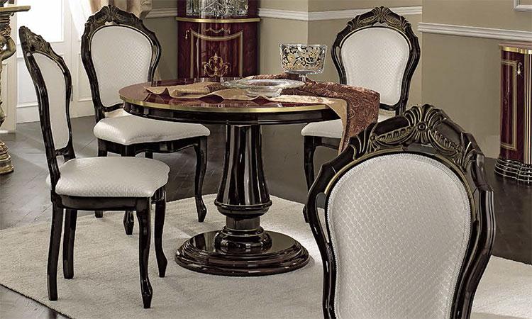 luxus wohnzimmer tische:Luxus Wohnzimmer Luxor Esstisch Set Mahogany Gold Decor Glanz