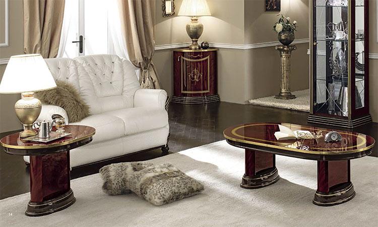 Exklusives Wohnzimmer Luxor Mahagoni Gold Glanz Stilmobel Aus