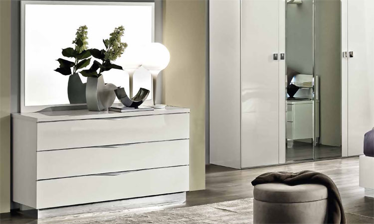 moderne kommode klein onda spiegel wei luxus design italienische stilm bel ebay. Black Bedroom Furniture Sets. Home Design Ideas
