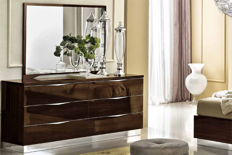luxus kommode spiegel onda nussbaum modernes design