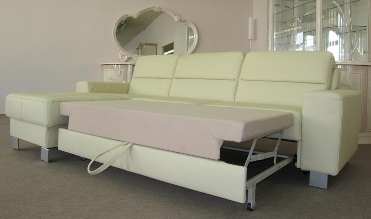 Sofa couch lederlookgarnitur schlaffunktion polsterecke for Couch polsterung