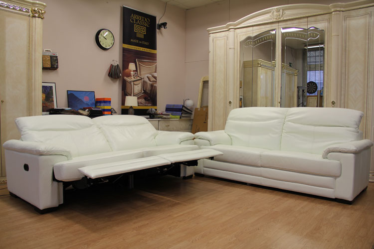 Relaxsofa Elektrisch Verstellbar Luxus Couch Sofas Sitzer Sessel Wei Leder Htl Relax