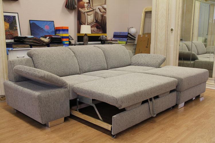 Sofa Couch Spitzecke Polsterecke Mit Vielen Funktionen Schlafsofa Grau Melange Ebay