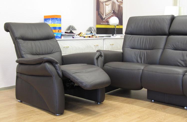 sofa couch echt leder garnitur 3 1 1 liegefunktion relax stilm bel aus italien ebay. Black Bedroom Furniture Sets. Home Design Ideas